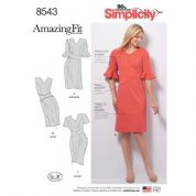 8543  Simplicity Pattern: Misses' Amazing Fit Dress
